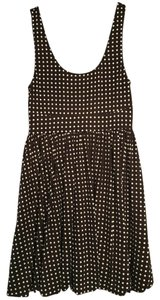 Alice + Olivia short dress Brown Polka Dot Sleeveless on Tradesy