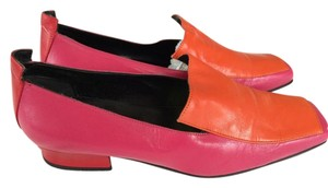 Calza Giovane Color-blocking orange and pink Flats