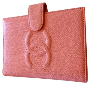 Chanel Agenda Notebook Cover pink Clutch