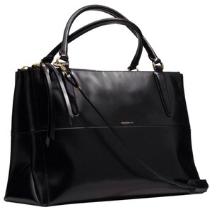 Coach Leather Nwt Xl Shoulder Tote in Black