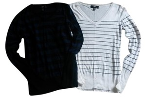 Mossimo Supply Co. Striped Longsleeve V-neck Sweater