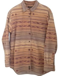 Woolrich Button Down Shirt Tans, Browns