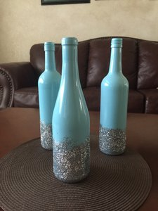 18 Painted Wine Bottles