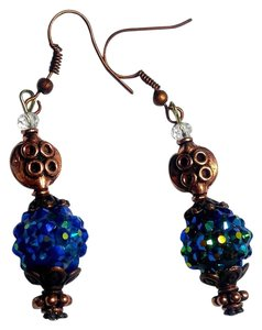 Other New Copper Blue Earrings J2886