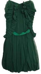 Elizabeth and James Mesh Strapless Bubble Jade Dress
