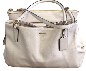 Coach Satchel in Cream And Gold