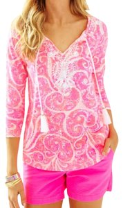 Lilly Pulitzer Holly Holly Cotton Top Pink