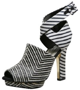 Isabel Toledo Striped Stripe Black, White Platforms