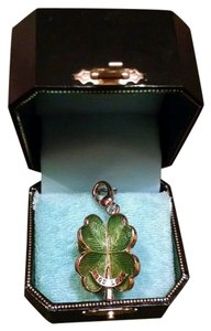 Juicy Couture 2007 RARE 3D four leaf clover green/gold charm