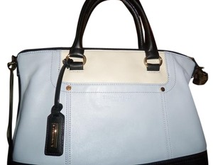 Tignanello Lilac Black Cream Satchel in LILAC/BLACK/CREAM