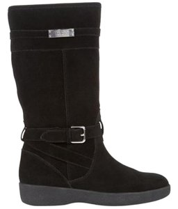 Coach Faux Shearling Lined Black Boots