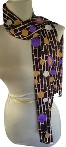 Executive Style Chocolate Brown Patterned Scarf