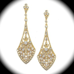Bella Tiara Stunning Vintage Gold Drop Earrings