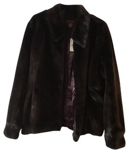 Banana Republic Faux Fur Fur Coat