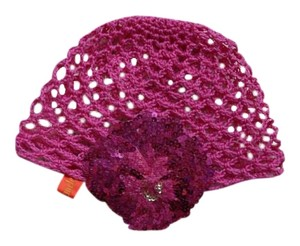 Ingwa Melero Ingwa Melero Crochet Beanie with Sequined Flower Embellishment