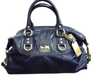 Coach Satchel in Purple And Gold
