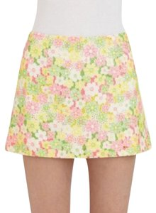 Lilly Pulitzer Mini Skirt Pink, Yellow, Green, White