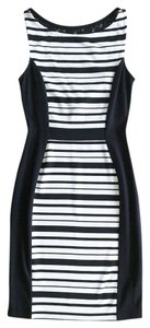 Anthropologie Stripes Lace Color-blocking Dress