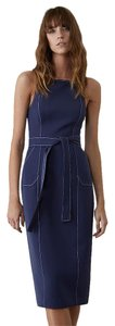 C/meo Collective short dress Navy Blue Business Pinafore Suspender on Tradesy