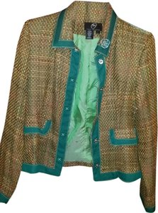 True Meaning Multi-color-Brown/Orange/Green/Teal Blazer