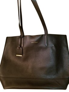 Cole Haan Leather Tote in Black