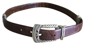 Brighton Reversible Calfskin And Alligator Embossed Belt