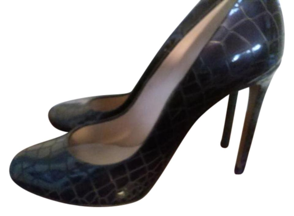 Casadei Dark viola Color Embossed Made In Italy US High Pumps Size US Italy   b90a7c