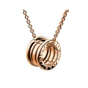 BVLGARI B Zero 1 Small Round 18kt Pink Gold Pendant With Chain