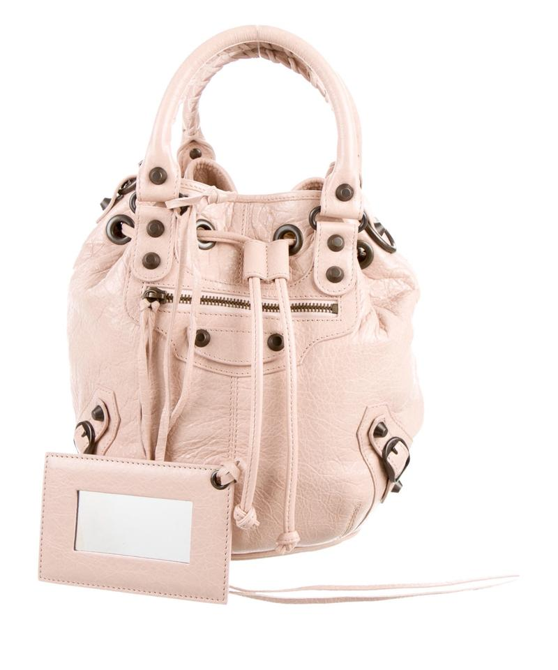 1096157ae0 Balenciaga Motocross Classic Mini Pompon Satchel Blush Leather Cross ...