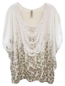 Free People Top White, Cream, Gray, Brown, Tan
