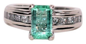 Verragio Verragio 2.50tcw Colombian Emerald & Diamond Platinum Ring