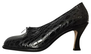 Dries van Noten Crocco Pump Black Pumps