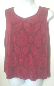 Coldwater Creek Jacquard Slinky Top Red