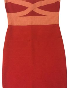 red and pink Maxi Dress by Guess