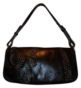Francesco Biasia Studded Leather Shoulder Bag