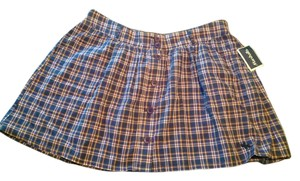 Abercrombie & Fitch Hollister Marshalls Plaid Mini Skirt Blue