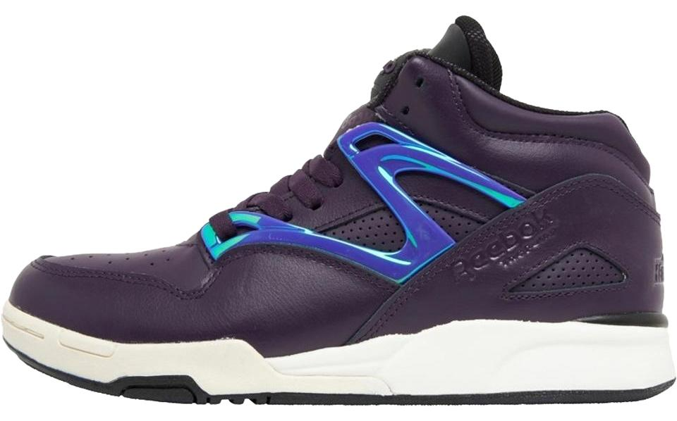 9718d9e7826c28 Reebok Purple Black Metallic Purple White Womens Pump Omni Lite Limited  Edition Trainers Sneakers