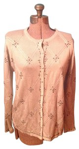 Joyce Beads Cotton Long Sleeves Buttons Cardigan