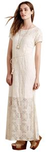 Cream Maxi Dress by Anthropologie