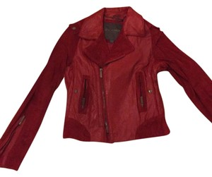 Zac Posen for Target Motorcycle Luxury Celebrity Red Leather Jacket