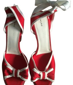 Marc Jacobs Red with White Trim Wedges