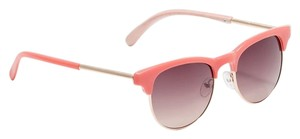 Ann Taylor LOFT NEW RETRO STYLE METAL FRAME CORAL SUNGLASSES