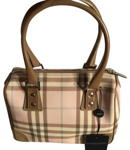 Burberry London Satchel in Pink Nova Check