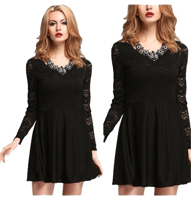 Preload https://item5.tradesy.com/images/black-high-waist-slim-night-out-dress-size-6-s-1945059-0-0.jpg?width=400&height=650