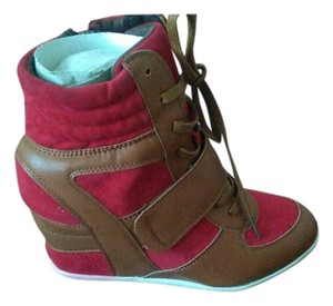 Diba aero Red/cognac Wedges