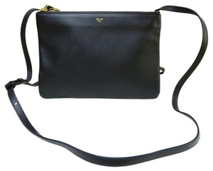 Céline Small Trio Cross Body Satchel in black