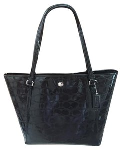 Coach Patent Tote in Black