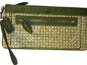 Coach Lime Green Clutch