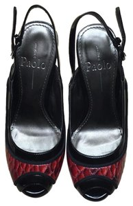 Linea Paolo Black and Red Pumps
