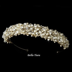 Bella Tiara Gorgeous Vintage Gold Wedding Tiara Headpiece